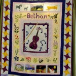 A quilt designed by a granddaughter and made by a grandmother.