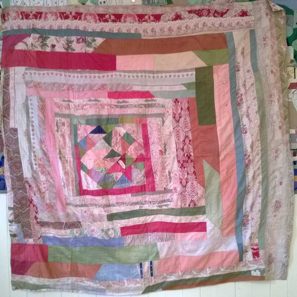 The front [or back?] of the charity shop quilt