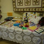 The tombola table.