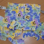 The source of pansies for applique work