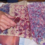Dyeing silks