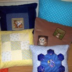Cushions made using a variety of techniques.